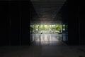 Dark entranceway of modern building the a chengdu china Royalty Free Stock Photos