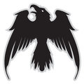 Dark Evil heraldic raven with spread wings.