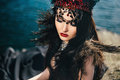 Dark evil queen Royalty Free Stock Photo