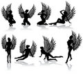 Dark fallen angel Royalty Free Stock Photos
