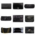 Dark female purses-3 Royalty Free Stock Photos