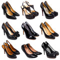Dark female shoes-4 Royalty Free Stock Photos