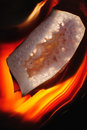 Dark Fire Agate Stock Photos