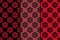 Dark flower seamless background. Black and red ornaments