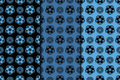 Dark flower seamless background. Blue and black ornaments