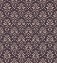 Dark forged lace seamless pattern on brown background Royalty Free Stock Photo