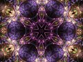 Dark fractal mandala digital artwork for creative graphic design Stock Image