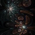 Dark fractal swirls Royalty Free Stock Photo