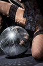 Dark glitterball dance Royalty Free Stock Photo