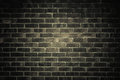 Dark gray brick wall as texture or background. . Royalty Free Stock Photo