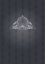 Dark gray ornate cover high Royalty Free Stock Photography
