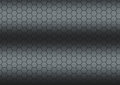 Dark gray texture whit hexagons Stock Photos