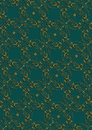 Dark green background with gold floral pattern with cross seamless from vintage Royalty Free Stock Photos