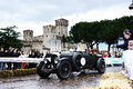 Dark green bentley litre in sirmione bs italy may built takes part to the miglia on may bs Royalty Free Stock Photos