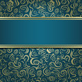 Dark Green Blue Invitation Card Royalty Free Stock Image
