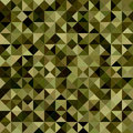 Dark green color triangle mosaic background Royalty Free Stock Photo