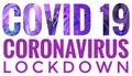 Dark Purple Covid-19 Outbreak Lockdown Header Text
