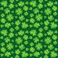 Dark green hand drawing seamless clover pattern, background for St. Patrick's Day