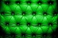 Dark green leather texture with buttoned pattern Royalty Free Stock Photo