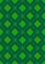 Dark green seamless background with rhombuses green shades flowers in tints Stock Photos