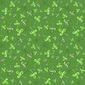 Dark green seamless clover pattern vector background for st patrick s day Stock Photo