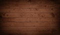 Dark grunge brown wooden planks, tabletop, floor surface Royalty Free Stock Photo