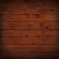 Dark grunge brown wooden planks, tabletop, floor surface Royalty Free Stock Photo
