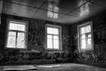 Dark Grungy Abandoned Room Royalty Free Stock Photo