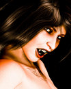 Dark Haired Vampire Head shot Royalty Free Stock Photo