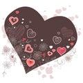 Dark heart-shaped frame Stock Images