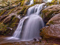 Dark hollow falls in shenandoah national park a closeup view of located off of skyline drive virginia Stock Images