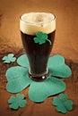 Dark Irish beer for St Patick's Day Royalty Free Stock Image