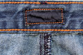 Dark label on jeans Stock Image
