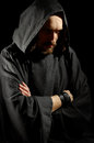Dark medieval monk Stock Photos