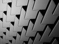 Dark metallic silver triangle pattern industrial background