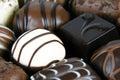 Dark milk and white chocolates selection of fine Stock Photos