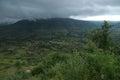 Dark monsoon landscape at Sajjangad Royalty Free Stock Photo