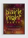 Dark Night Party Flyer or Banner.