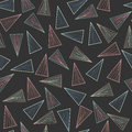Dark pattern with lines and triangles.