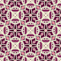 Dark purple floral pattern abstract on a beige background Royalty Free Stock Photo