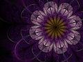 Dark Purple Fractal Flower