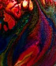 dark rainbow Abstract colorful Long Exposure Sparkly Lights Background and beautiful Royalty Free Stock Photo