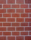 Dark red block brick wall for background and texture Stock Image