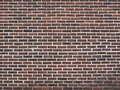 Dark red brick wall as a background texture Royalty Free Stock Photo