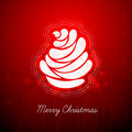 Dark Red Greeting with Abstract Christmas Tree Royalty Free Stock Photos