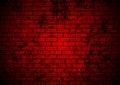 Dark red grunge brick wall background Royalty Free Stock Photo