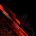 Dark red grunge tech vector background Royalty Free Stock Photo