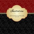 Dark red ornamental album cover pattern invitation card or template vector illustration Royalty Free Stock Image