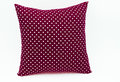 Dark red pillow for decorate soft Stock Photos