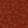 Dark Red Textured Background With Gold Stars Stock Photo